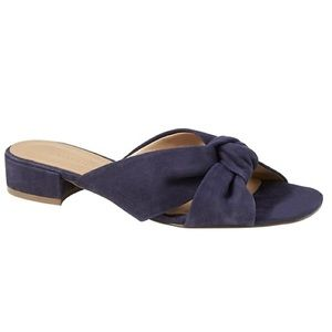 Banana Republic Knotted Blue Sandals